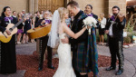 Bride and Groom in Kilt