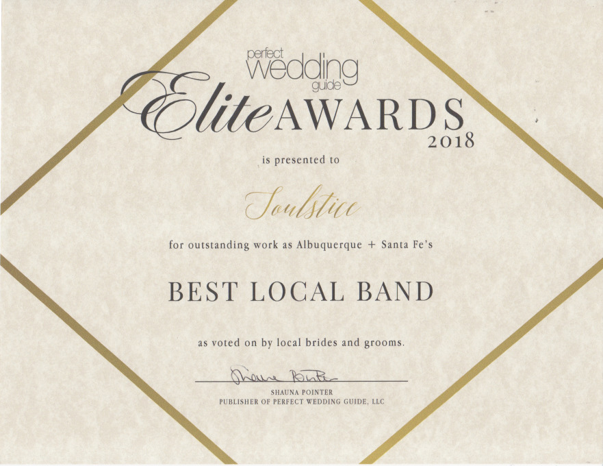 Soulstice - Best Local Band Award 2018